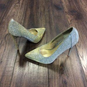 Gold/Silver Glittery Shoe Dazzle Pumps